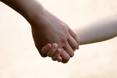 Hands of mother and child. Together Royalty Free Stock Photography