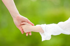 Hands of mother and daughter Royalty Free Stock Image