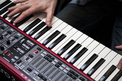 Hands of musician Stock Image