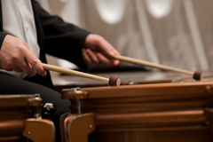 Hands musician playing timpani Royalty Free Stock Photography