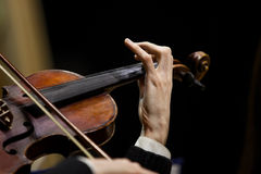 Hands musician playing the violin Royalty Free Stock Image