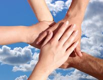 Hands my friends Royalty Free Stock Image