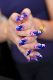 Hands - Nail Art Stock Image