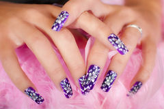 Hands - Nail Art Royalty Free Stock Images