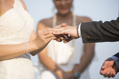Hands newly married Blurred Royalty Free Stock Photos
