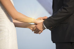 Hands newly married Blurred Stock Photography