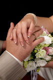 Hands of newlyweds Royalty Free Stock Photo