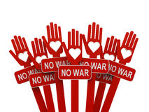 Hands with No War Stock Photography