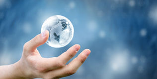 Free Hands Of A Glass Planet Stock Photography - 35707732