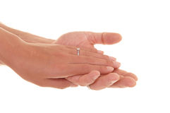 Hands Of Man And Woman. Stock Photo