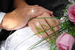 Hands Of The Groom And The Bride Stock Photos