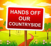 Hands Off Countryside Indicates Go Away And Picturesque Royalty Free Stock Photography