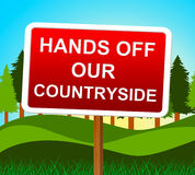 Hands Off Countryside Represents Go Away And Meadow Royalty Free Stock Images