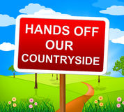 Hands Off Countryside Represents Go Away And Picturesque Stock Photography
