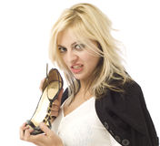 Hands off my shoes Royalty Free Stock Photography