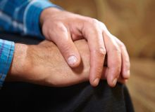 Hands of old man Stock Photography