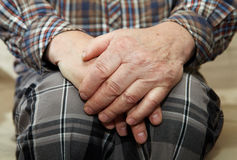 Hands of old man Stock Photo