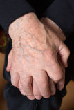 Hands of an old senior adult Royalty Free Stock Images