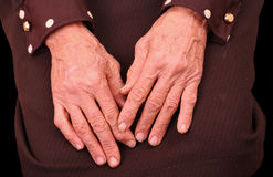 Hands of an old woman Royalty Free Stock Photography