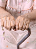 Hands of old woman Stock Photo