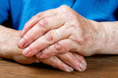Hands of an old woman close-up Royalty Free Stock Image