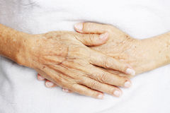 Hands of old woman Stock Photos