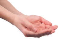 Hands open Royalty Free Stock Photography