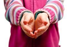Hands open Stock Photography
