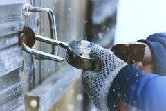 Hands open lock stock image