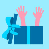 Hands out of box Royalty Free Stock Images