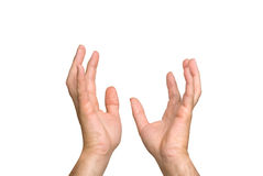 Hands outreacing in aspiration Royalty Free Stock Photography