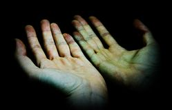 Hands outstretched Royalty Free Stock Photography