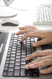 Hands over keyboard Royalty Free Stock Photography