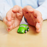 Hands overing safety for car Royalty Free Stock Photography