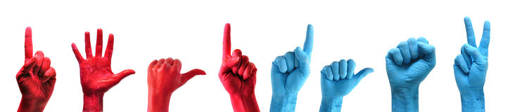 Hands pack Royalty Free Stock Images