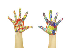 Hands painted Royalty Free Stock Images