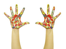Hands painted Stock Image