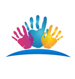 Hands logo Royalty Free Stock Images