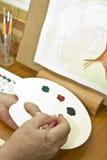 hands painter Στοκ φωτογραφία με δικαίωμα ελεύθερης χρήσης