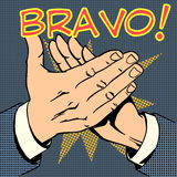 Hands palm applause success text Bravo Royalty Free Stock Photo