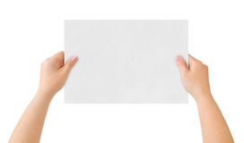 Hands and paper Stock Photography