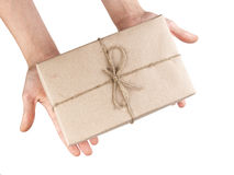 Hands with a parcel Stock Image
