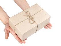 Hands with a parcel Stock Photo