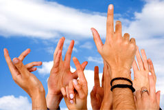 Hands of participation Stock Photography