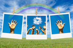 Hands with Peace Sign Royalty Free Stock Image
