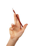 Hands with pencil Royalty Free Stock Image