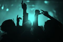Hands of people in a nightclub. At a party Stock Image
