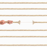 Hands of people pulling the rope on white background. Competition concept Royalty Free Stock Photo