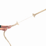 Hands of people pulling the rope on white background. Competition concept Stock Image