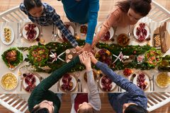 Dinner together Stock Photography